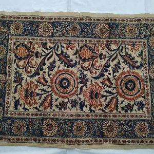 Middle East Tablecloth Vintage. Handmade cotton tablecloth with natural colors vintage and floral designs. Dimension 40 cm X 60 cm approximately.